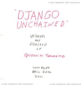 Django Unchained script cover