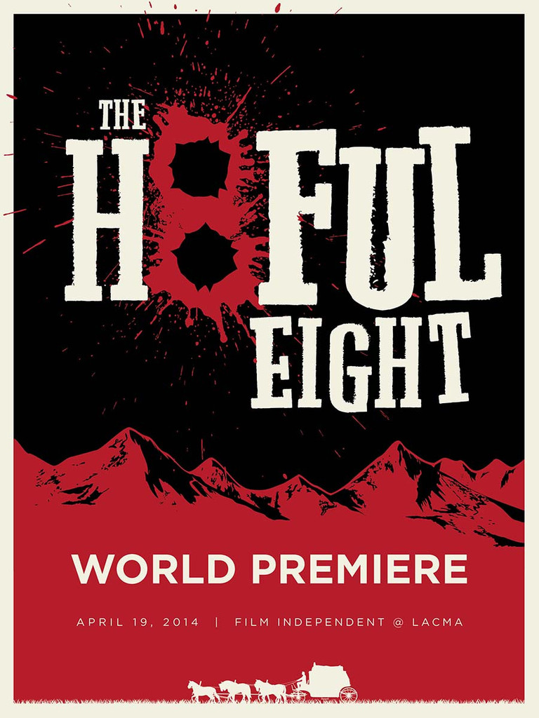 LACMA The Hateful Eight world premiere poster