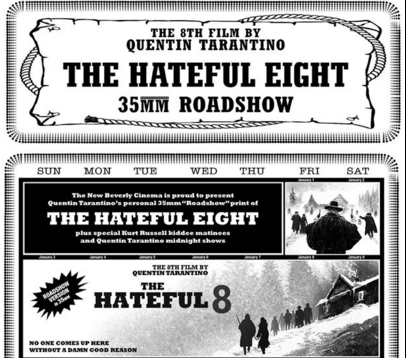 The Hateful Eight 35mm roadshow New Beverly Cinema