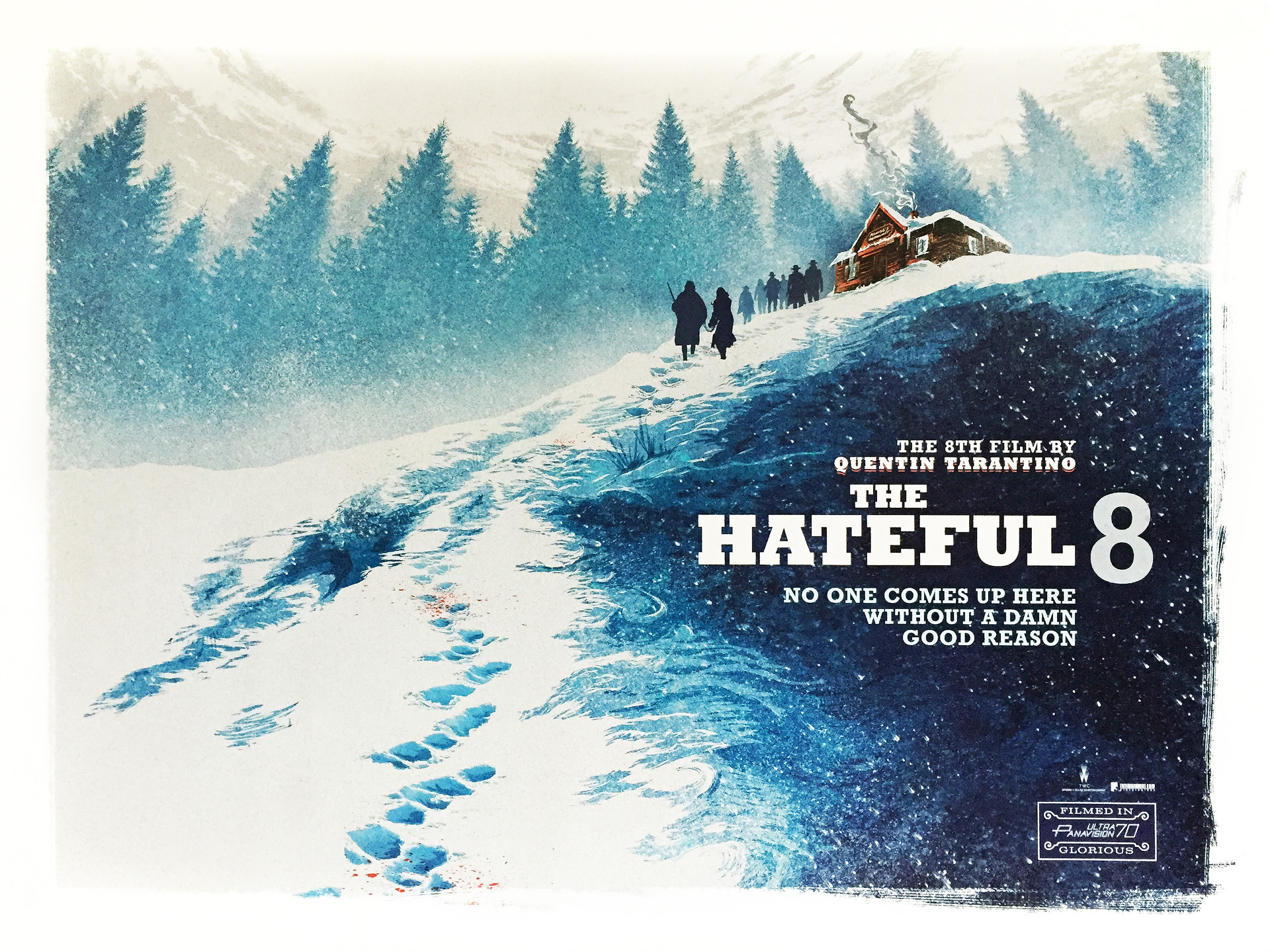 The Hateful Eight quad poster